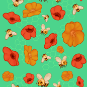 Poppies & Bees
