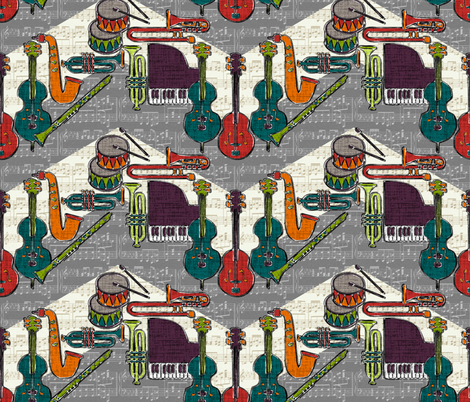 vintage ragtime chevron fabric by scrummy on Spoonflower - custom fabric