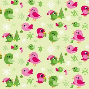 Holiday Birdies Green