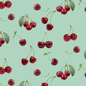 Minty cherries