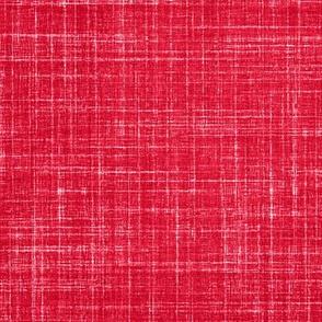 Linen in Watermelon Red