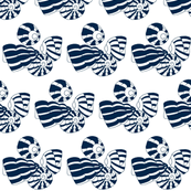 dark navy blue sea shells