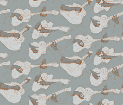 Delta Blues fabric by mariaspeyer on Spoonflower - custom fabric