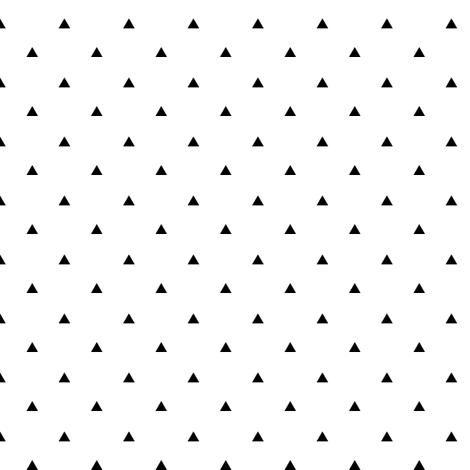 Tiny Triangles - White Background fabric - kimsa - Spoonflower
