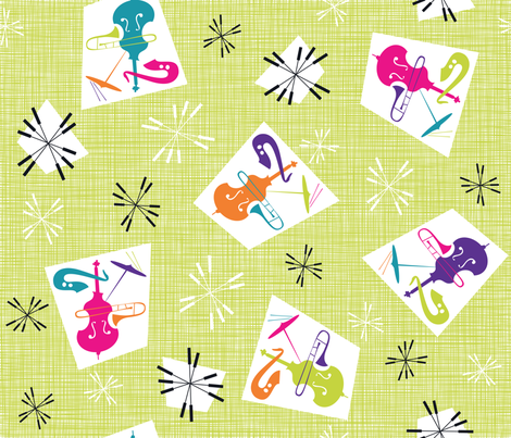 Julie's Jazzing MOD fabric by juliesfabrics on Spoonflower - custom fabric