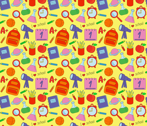 Back to School fabric by alenkas on Spoonflower - custom fabric