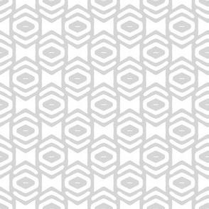 Modern Geometric Ogee in Gray
