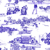 Hamptons Historical Golf Course Toile