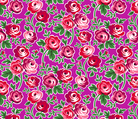 Matryoshka Large Floral fabric by minimiel on Spoonflower - custom fabric