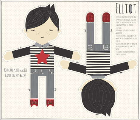 Elliot In Black fabric by stacyiesthsu on Spoonflower - custom fabric