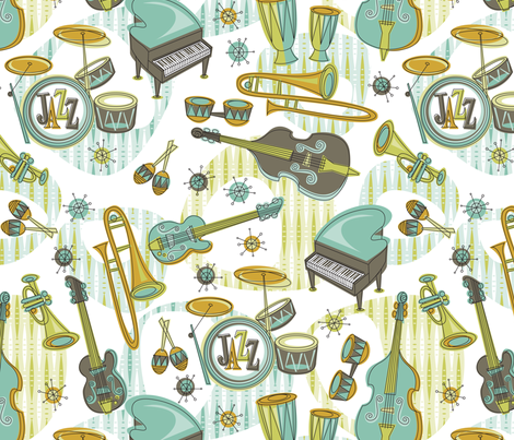 Retro Jazz fabric by cjldesigns on Spoonflower - custom fabric