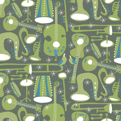 Jazz Groove    fabric by pattyryboltdesigns on Spoonflower - custom fabric