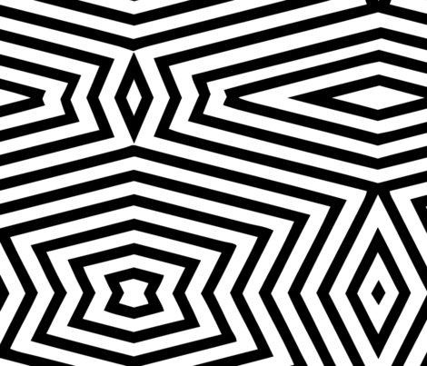 black white geometric uber large fabric by wren_leyland on Spoonflower - custom fabric