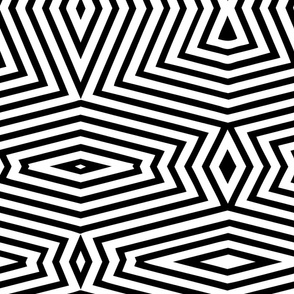 black white geometric uber large