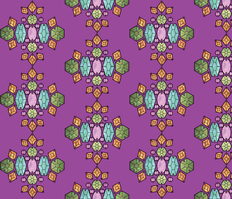 Beaded Gems- Orchid Background fabric by rachelkennison on Spoonflower - custom fabric