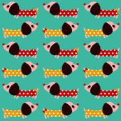 Polka Dot Wiener Dogs