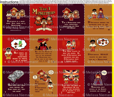 The 3 Musketeers Little Literary Classics Cut and Cew Fabric Quiet Book
