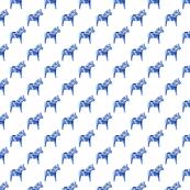 Dala Horse in Blue, Wider