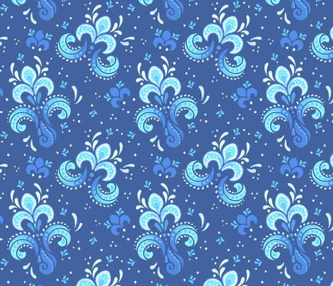 Fleur de Otachi - drk fabric by alienfirst on Spoonflower - custom fabric