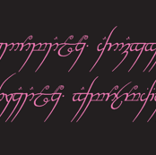 Lord of the rings -black and pink