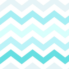 Ombre Blue Chevron