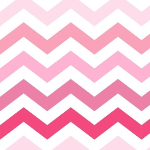 Ombre Pink Chevron