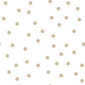 polka dot beige on white