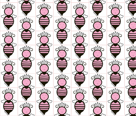 BOSS LADY Queen Bee fabric by thesisterswood on Spoonflower - custom fabric