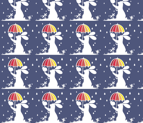 The Rain fabric by paper_panda on Spoonflower - custom fabric