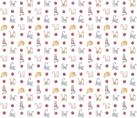 Cat Cat Cat  fabric by misterhope on Spoonflower - custom fabric
