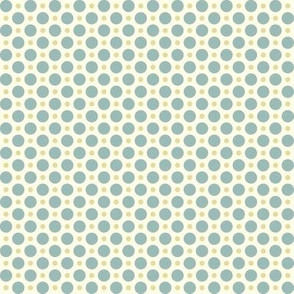 Turquoise and Gold Polka Dots