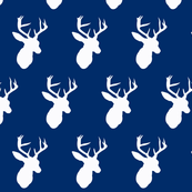 Navy Deer Silhouette