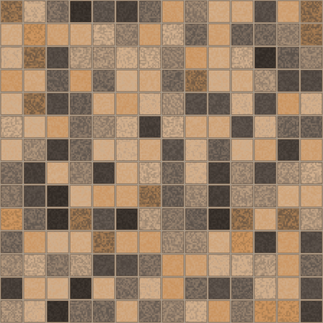 Beige Brown Gray Tile Mosaic © Gingezel™