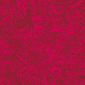 Engrave Swirls 5 Red