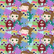 McKenzie's Monster- Fangtastic Fabric