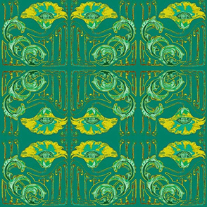 Art Nouveau32-teal/green Large