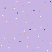 Dotty, Lavender with Peach Cream Blue