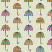 Rainy Day Umbrellas design in bright multi colors D3