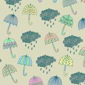 Pastel umbrella pattern