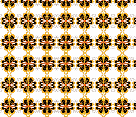Mod Flowers Medium fabric by pw_marcus on Spoonflower - custom fabric