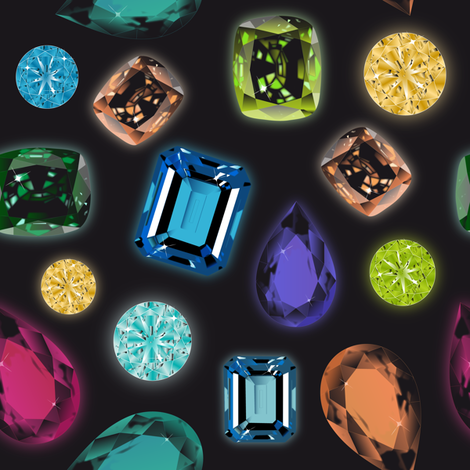 Gemstones fabric by vannina on Spoonflower - custom fabric