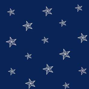 Royal Blue Nautical Coordinate