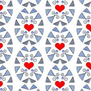 Pysanky +Hearts
