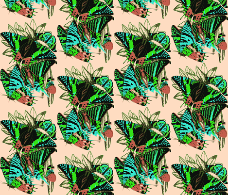 bug mix 2 fabric by craftyscientists on Spoonflower - custom fabric
