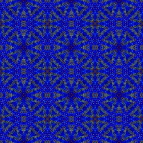 Geometric Blues: Circular Batik