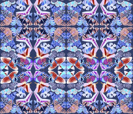 butterfliesinvert2 fabric by craftyscientists on Spoonflower - custom fabric