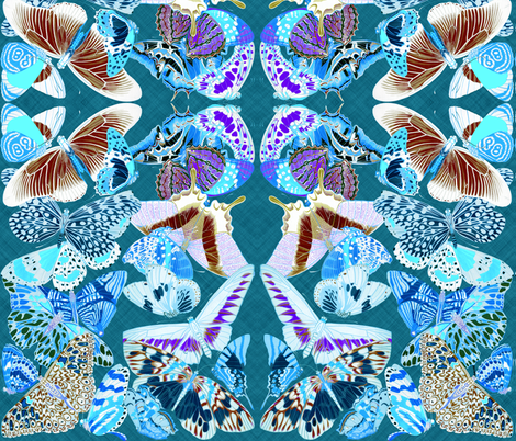 butterfliesinvert3 fabric by craftyscientists on Spoonflower - custom fabric