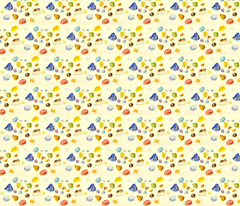 Gemstones are Worlds  fabric by mindfuldrawing on Spoonflower - custom fabric