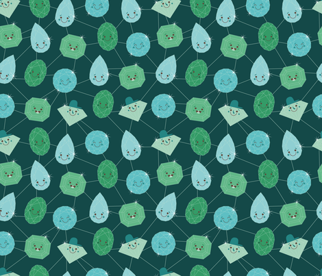 gemstone_green fabric by jutadesign on Spoonflower - custom fabric