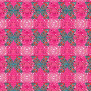 Teal Mouse Quad Hot Pink